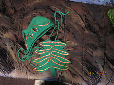 CAP AND BIB CHRISTMAS OUTFIT WEAR FOR BIG DOLL COLLECTOR OR DOG OR CAT COSTUME