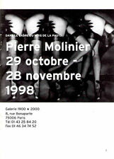 PIERRE MOLINIER - 1998 Photography Gallery Exhibition Catalog Booklet - NEW COPY