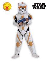 RUBIES Boys Costume Fancy Dress Licensed Star Wars Trooper Commander 883207