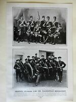 Leaders of the Macedonia Revolution as Cadets Military Portraits 1903 old print