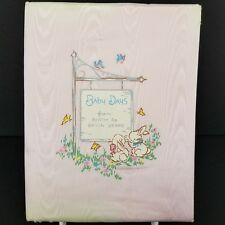 Gibson Girls Baby Days Book Birth To 7 Years Faded Torn Cover Vintage 1960s
