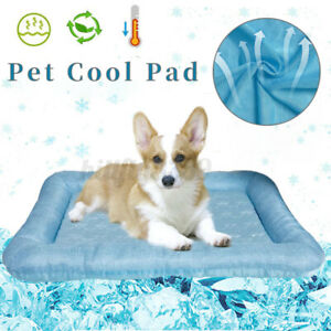 Linen Pet Cooling Mat  Large Cushion Pad Hot Summer Bed for Dog Cat   AU