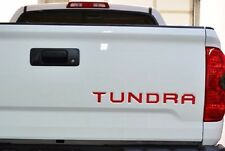 RED 14 15 16 Toyota Tundra Tailgate Insert Letters Decal Vinyl Stickers Decals