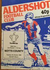 Aldershot v Notts County (Milk Cup second round first leg) 1983-84