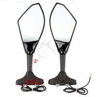 Rearview Mirrors LED Turn Signals For Honda CBR60RR VTR1000F VFR800 CBF1000 RC51