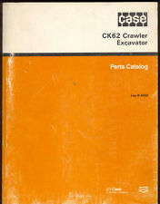 1991 J I CASE PARTS CATALOG  MODEL CK62 CRAWLER EXCAVATOR