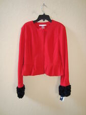 Peter Nygard NWT Womens Petites Red Jacket 10P NEW