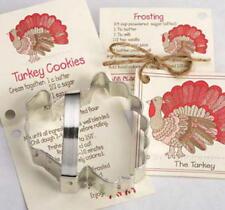ANN CLARK ~TURKEY~ PUMPKIN ~ MAPLE LEAF tin cookie cutter TRIO ~ MADE IN USA