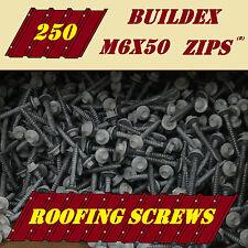 Roofing Screws for Metal or Timber 250 M6x50 BUILDEX Roof Zips Tek Painted Seal