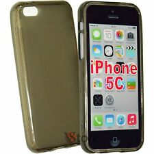 Cover caso para el iPhone 5 C Silicone Gel TPU Negro Retro Mate