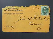 Solomon City Kansas KS DPO Cancel on Kelley Jeweler Watches Clocks Cover c1870