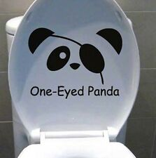 CUTE PANDA REMOVABLE WALL STICKERS DECAL KIDS FUNNY BATHROOM TOILET SEAT DECOR