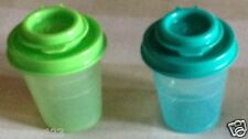 Tupperware Salt and Pepper Shakers Set Of 2 In Different Colors- New