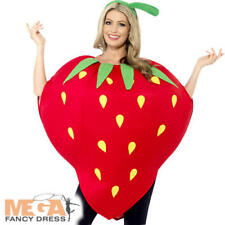 Strawberry Adults Fancy Dress Food Fruit Novelty Mens Ladies Costume Outfit New