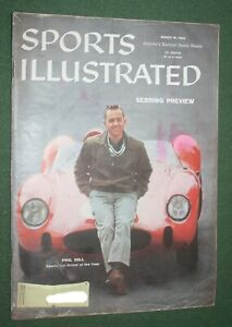 Sports Illustrated March 16, 1959 Sebring Preview Phil Hill Sports Car Driver vg