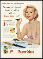 1953 Zsa Zsa Gabor photo Paper-Mate pen vintage print ad