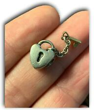 Pandora RETIRED Genuine Authentic Silver Gold Key Lock Heart Charm Dangle 790288