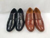 Ferro Aldo Shelton Men's Lace Up Pattern Oxford Wingtip Dress Shoes
