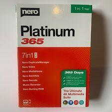 Nero Platinum 365 7 in 1 suite(2020)- Newest Full Retail PC The Ultimate 4K New