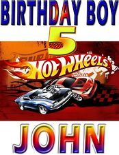 NEW HOT WHEELS TEAM CUSTOM BIRTHDAY BOY SHIRT ADD NAME & AGE FOR FAMILY PARTY