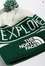 The North Face TNF Pompom Beanie - ONE SIZE FITS ALL - GREEN/WHITE - LOGO