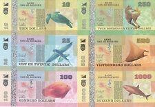 Bonaire set 6 banknotes 2015 UNC (private issue)