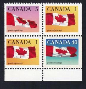 Canada 1990 MNH Flag booklet pane 1-5-40¢, sc#1190a (BK123)
