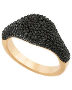 Swarovski Stone 18k Rose Gold Black Ring 5406222