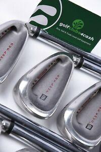 Wilson Deep Red Irons / 3-SW / X Flex Steel Shafts / WISDEE054