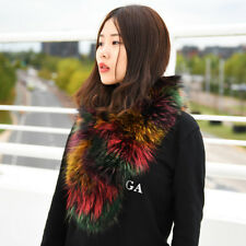 Colouful Raccoon Fur Scarf Collar