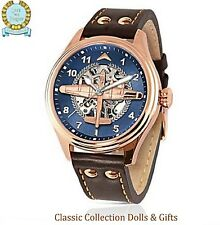 """""""DAMBUSTERS LANCASTER BOMBERS"""" ROSE GOLD LTD EDITION MECHANICAL WATCH - NEW!"""