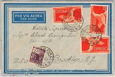 57126 - REPUBBLICA - STORIA POSTALE: ESPRESSI usati come ordinari su BUSTA  1949