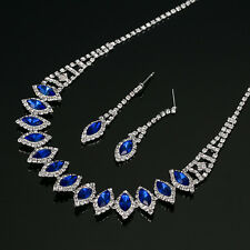 Sparkling Diamante and Rhinestone Necklace and Earrings Set