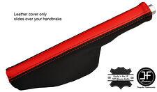 BLACK & RED LEATHER HANDBRAKE GAITER FITS AUDI TT 1998-2006