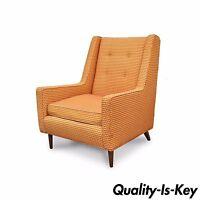 Vintage Mid Century Modern Walnut Sculptural Lounge Arm Chair Paul McCobb Style