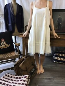 Vtg Beach Dress Antique Cotton Vtg 1920 dress French Cotton Sun Dress 1910
