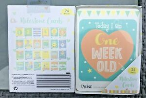 BABY'S  MILESTONE MEMORABLE MOMENTS  24 UNISEX CARDS BABY SHOWER GIFT FIRST YEAR
