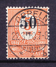 (PL) Poland Oberschlesien Upper Silesia Mi 12b used expertised rare