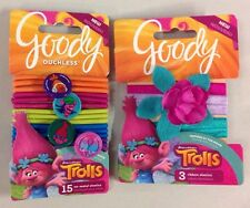 DreamWorks Trolls POPPY Hair Flower Goody Accessory Elastic Ribbon New Gift Set