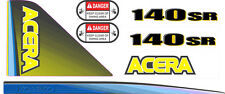 Kobelco 140SR Acera Decal Kit - very high quality aftermarket decals