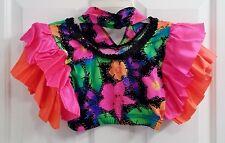 A Wish Come True Multicolor Women's Small Costume Crop Top And Headband