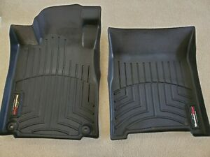 WeatherTech FloorLiner Floor Mats for Honda CR-V EX-L fits 2012-16 1st Row Blk
