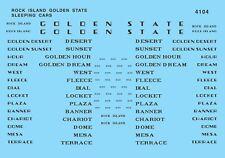 N Scale Rock Island Golden State Sleeping Cars Decal Set - Microscale #60-4104
