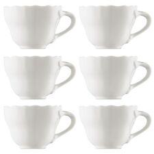 6 Hutschenreuther Maria Theresia Café Au Lait-Obertassen Kaffeetassen Weiß 340ml