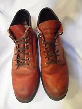 RED WING, MEN'S BROWN LEATHER STEEL TOE, WORK BOOTS ANKLE BOOTS, SIZE 12 D