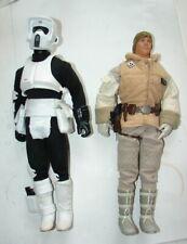 "Star Wars 12"" Collectors series lot of figures- luke hoth biker scout  620"