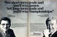 1988 Penn State Football Coach Joe Paterno photo Merrill Lynch 2-page print ad