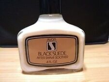 AVON Black Suede After Shave Soother 4 oz Men's Vintage NEW