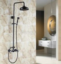 "Black Oil Rubbed Brass Wall Mounted 8""Rain Shower Faucet Set Mixer Tap 8rs497"