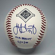 Jake Arrieta signed Rawlings Orioles 25th Ann Baseball JSA Inscribed Debut A366